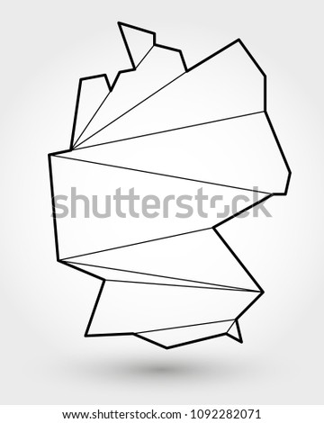 Outline Map Of Germany.Black Outline Map Germany Stylized Concept Stock Vector Royalty