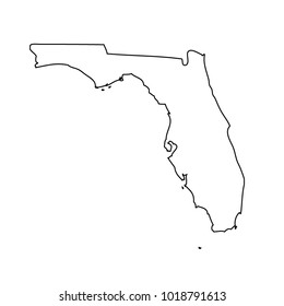 Florida Map Outline Stock Vectors Images Vector Art Shutterstock