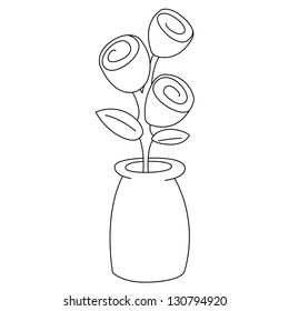 Flower Vase Outline Images, Stock Photos & Vectors | Shutterstock on flower spring outline, hibiscus flower outline, flower book outline, flower planter outline, flower house outline, exotic flower outline, flower box outline, jar outline, flower print outline, flower sign outline, flower painting outline, flower white outline, flower cross outline, flower wall outline, flower plant outline, antique flower outline, flower garden outline, flower wreath outline, flower tree outline, grecian urn outline,