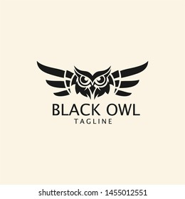 black owl logo / black owl vector grapich