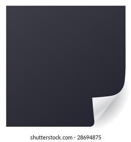 black page corner vector