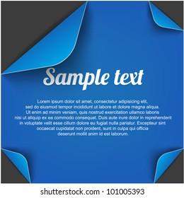 black page with folded corner vector illustration