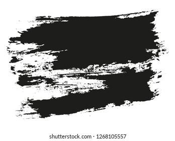 black paint brush stroke background
