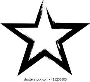 Black Paint Vector Star .
