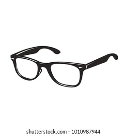 black pair of spectacles vector drawing