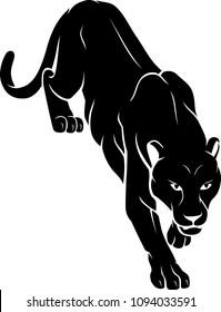 Black Panther Climb Down