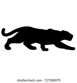 black panther silhouette images stock photos vectors shutterstock
