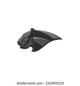 black panther head esport logo vector illustration