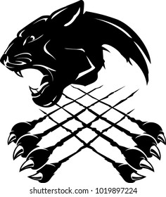Panther claw mark logo - photo#49