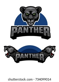 Black Panther Mascot Logo