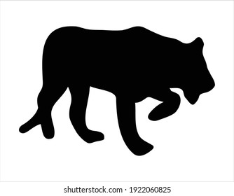 Black Panther Outline Image in vector