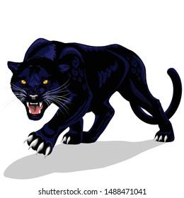 Black Panther Spirit Roaring Vector illustration