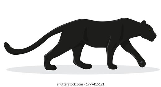 black Panther - vector illustration in cartoon style