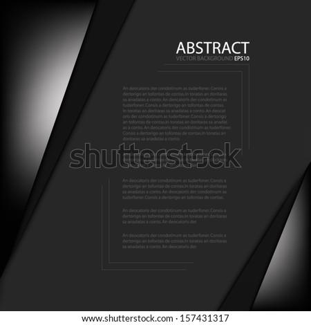 black paper background overlap dimension vector stock vector