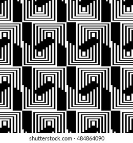 black pattern with white lines