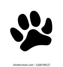 Black paw icon on white background