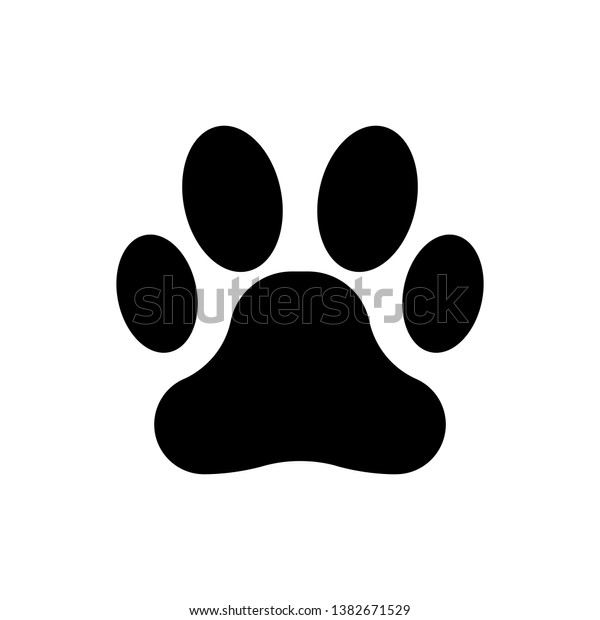 黒い手描きのアイコン 犬や猫の足跡 動物の足跡 ベクターイラスト のベクター画像素材 ロイヤリティフリー