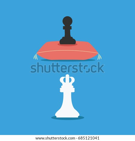 a4d4fc11acd black pawn chess piece slave or employee cartoon. flat design game for  business black man