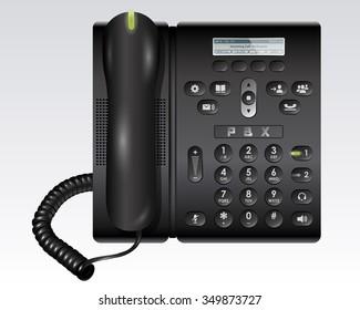 Black PBX Telephone