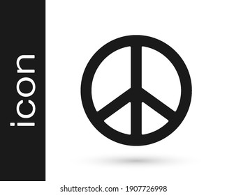 Black Peace icon isolated on white background. Hippie symbol of peace.  Vector