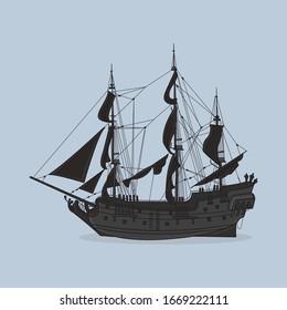 Black Pearl Ship, Pirates Of The Caribbean, Jack Sparrow, Marine, Ship