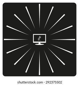 black pencil. icon. vector design