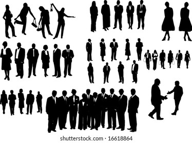Black people isolated on white