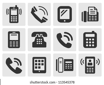 black phone icons for your design
