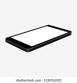 Black phone in turn - stock vector
