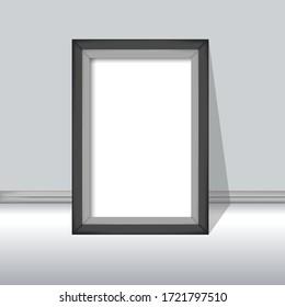 Black picture frame vector illustration