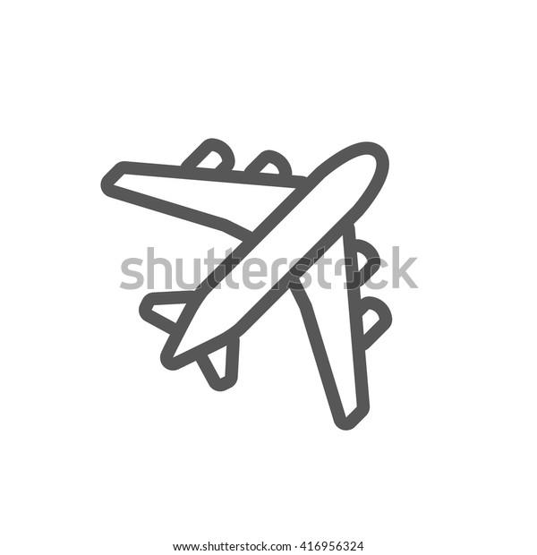cartoon simple airplane drawing