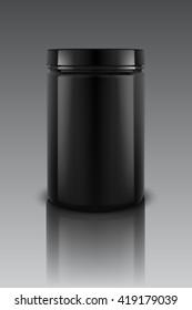 Black Plastic Jars,Vector illustration, Eps 10