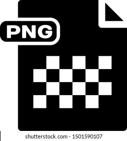 Black PNG file document. Download png button icon isolated on white background. PNG file symbol.  Vector Illustration