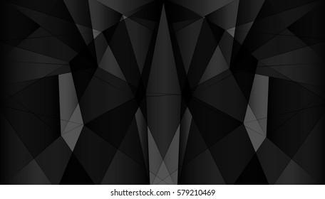 Black polygonal background.