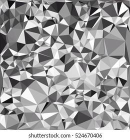 Black Polygonal Mosaic Background, Creative Design Templates