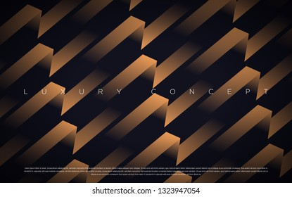 Black premium background with luxury dark gold bullion pattern and golden lines. Rich background for poster premium design.