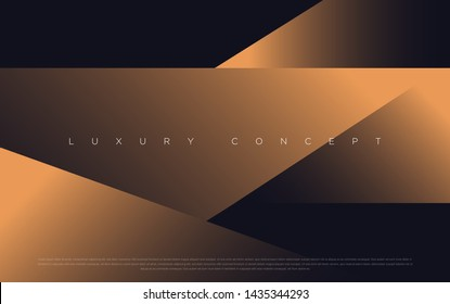 Black premium background with luxury dark gold bullion pattern and golden lines. Rich background for premium design. - Vector
