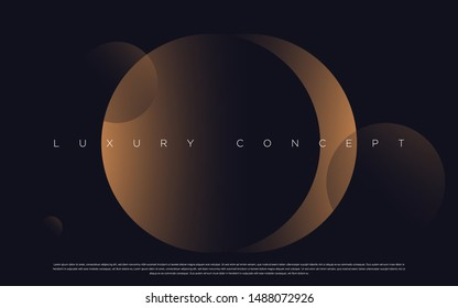 Black premium space background with luxury dark globes. Rich vector background for your exclusive design.