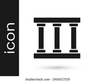 Black Prison window icon isolated on white background. Vector