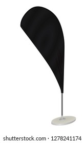 Black promo flag vector illustration