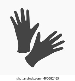 Black protective rubber gloves icon cartoon. Single tattoo icon from the big studio set.