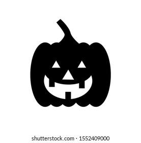 black pumpkin vector design illustration