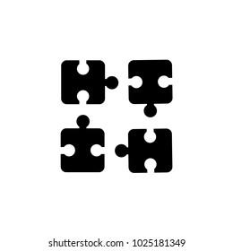 black puzzle icon