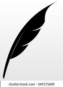 black quill isolated illustration