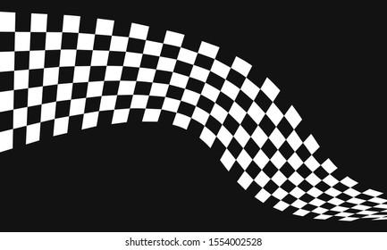 Black Race flag logo icon, modern simple design illustration vector template