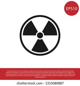Black Radioactive icon isolated on white background. Radioactive toxic symbol. Radiation Hazard sign. Vector Illustration
