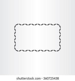 black rectangle decorative vector frame element design