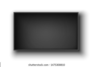 Black rectangular open box on white background. Package. Vector illustration.