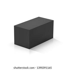 Black rectangular prism. Vector illustration