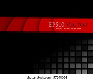 Black and red abstract background - vector illustration